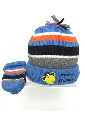 Pesci Kids hat & mitt set C9788 Blue-Orange