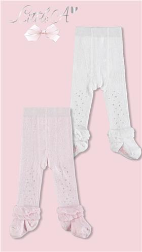 Little A Dee baby tights LW20900 white Issie