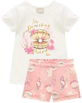 Milon girls PRECIOUS PEARL T-shirt & short 12809-0452