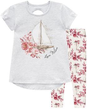 Milon girls summer sailboat T-shirt & legging 12620-0467
