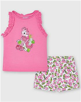 Mayoral girls top & shorts 3214-021 pink