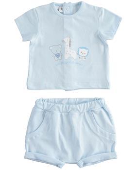 I Do baby boys short sleeve short set 42179-021 blue