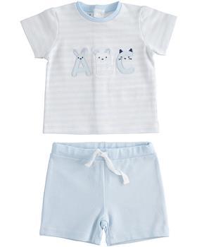 I Do baby boys short sleeve short set 42090-021 blue
