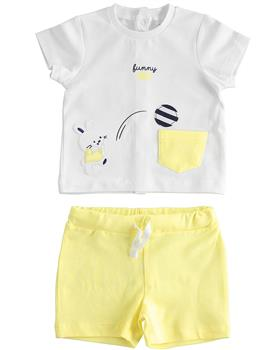 I Do baby boys short sleeve short set 42091-021 yellow