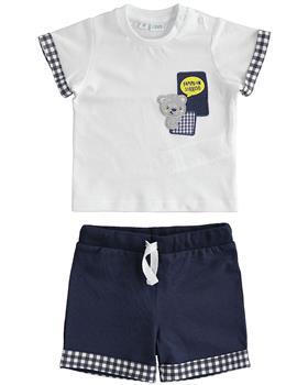 I Do baby boys short sleeve short set 42601-021 white