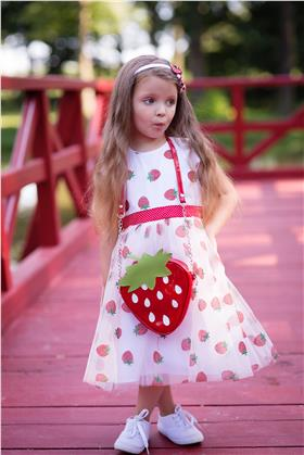 Daga girls strawberry bag 8369-021 red