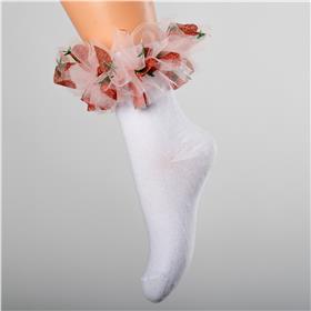 Daga girls frill tutu strawberry sock A21064