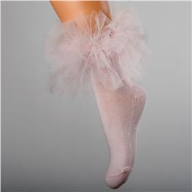 Daga girls frill tutu sock A21065 pink