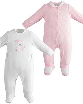 I Do baby girls two pack of all in ones  42152-021 WH-PK