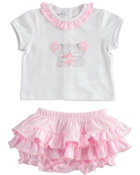 I Do baby girls short sleeve set 42168-021 white