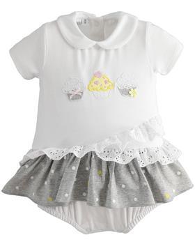 I Do baby girls summer romper 42173-021 white