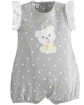 I Do baby girls summer romper 42172-021 GR-YEL