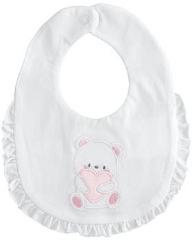 I Do baby girls bib 42931-021 WH-PK