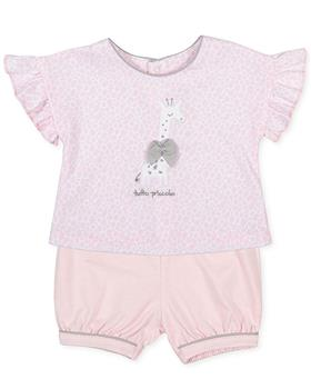 Tutto Piccolo girls top & short set 1689-021 pink