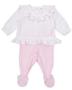 Tutto piccolo girls top & footie 1488-021 pink