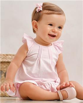 Tutto piccolo girls dress & knicks 1784-021 pink