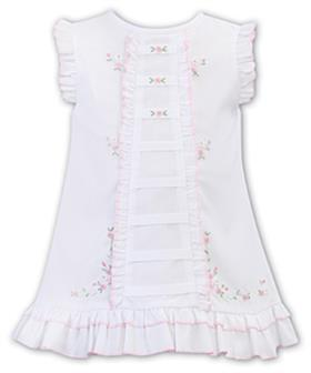 Sarah Louise Baby Girl Dress 012248 WH/PK