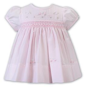 Sarah Louise baby girls smocked dress 012226 pink