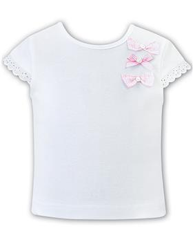 Sarah Louise girls top & shorts d09499-09500 Wh/pk