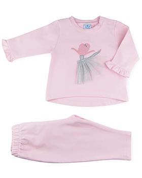 Sardon baby girls ballerina jogsuit CO-514-021 pink