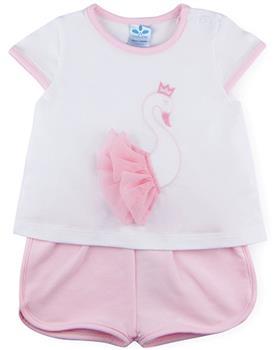 Sardon baby girls T-shirt & short CO-520-021 pink