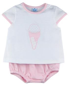 Sardon baby girls icecream top & panties Rosa  CO-524-021