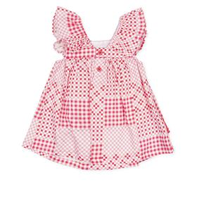 Agatha Ruiz girls heart dress 2123-021 coral