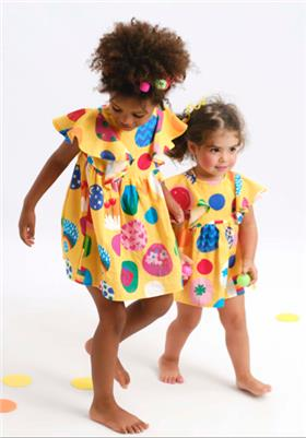 Agatha Ruiz girls dress 2124-021 yellow
