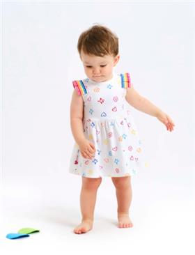 Agatha Ruiz girls dress 2125-021 White
