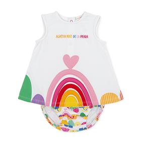 Agatha Ruiz baby girls dress & knicks 2794-021 White
