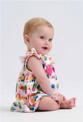 Agatha Ruiz baby girls dress & knicks 2494-021 Multi