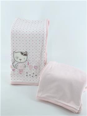 Mintini baby pram blanket S0090 pink
