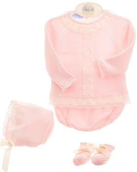 Macilusion baby girls 5 piece set 8029-021 pink
