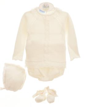 Macilusion baby girls 5 piece set 8029-021 ivory