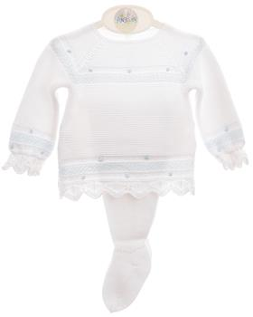 Macilusion baby boys outfit 7606-20 Wh/Bl