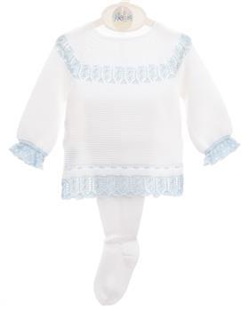 Macilusion baby boys footsie set 8004-021 wh/bl