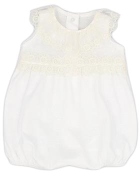 Rapife baby girls summer sleeveless  romper 4107S21 Ivory