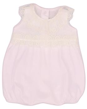 Rapife baby girls summer sleeveless  romper 4107S21 pink