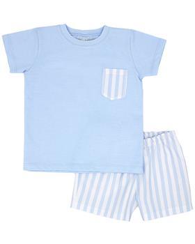 Rapife boys T shirt & shorts 4450S21 blue