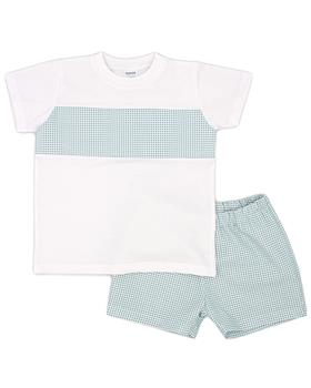 Rapife boys T shirt & shorts 5350S21 green
