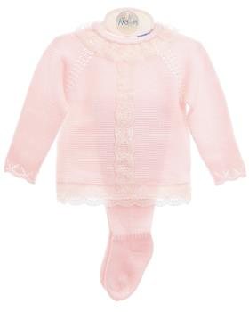 Macilusion baby girls footsie set 8013-021 pink