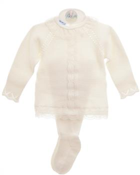 Macilusion baby girls footsie set 8013-021 cream