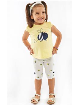 Ebita girls summer bumblebee legging set 4522-021