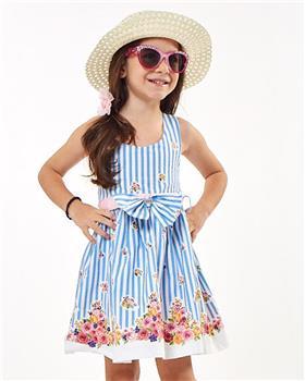 Ebita summer girls blue stripe sundress 2205-021