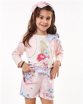 Ebita girls summer T shirt - shorts - bolero 2234-021