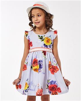Ebita summer girls floral print dress 2201-021