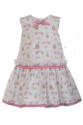 Daga girls bicycle print summer dress 8275-210