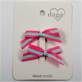 Daga girls cerise & pale blue hair bow 21035 pink