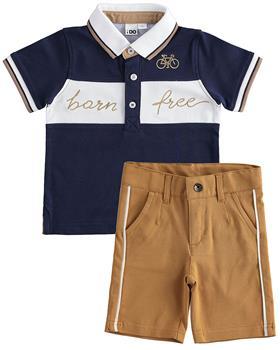 I Do boys polo & shorts 42224-2694-021 navy