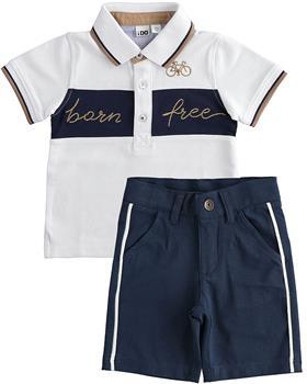 I Do boys polo & shorts 42224-2694-021 White